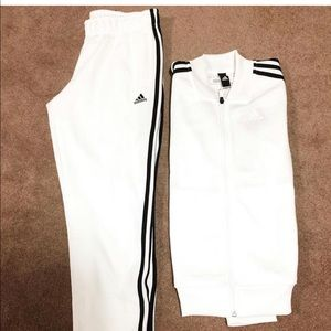 Adidas white tracksuit. Brand new.